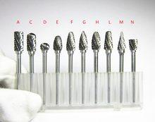 10 pçs shank 3mm cabeça 6mm carboneto de tungstênio rebarbas rotativas arquivos cnc moldes acessórios para metalurgia polimento moedor elétrico