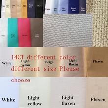 Oneroom разные размеры Aida 14ct белая ткань розовый черный льняной зеленый вышивка крестиком ткань холст DIY Рукоделие Шитье 7