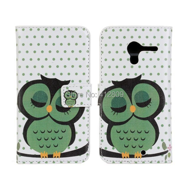 1PCS Mulit Owl Prints PU Leather Back Skin Protector Cover Case for Motorola Moto X PHONE XT1055 XT1058 XT106 with Credit Card