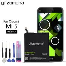 YILIZOMANA BM22 телефон Батарея для Xiaomi mi 5 M5 mi 5 Замена Bateria 2910 mAh Высокое качество Розничная продажа посылка бесплатная инструменты