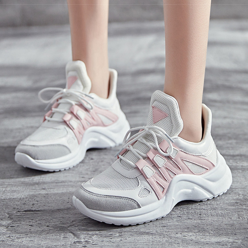 Printemps Automne Dames Chaussures Casual Chaussures Haute Plate-Forme Chaussures Femmes Sneakers