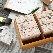 Vintage Pieces natural series wooden rubber stamps for scrapbooking stationery DIY stamp