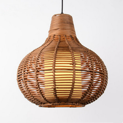 Chinese style creative hand knitting Bamboo art Chandelier Modern rural E27 LED lamp for porch&parlor&stairs&corridor LHDD053 southeast asia style hand knitting bamboo art pendant lights modern rural e27 led lamp for porch