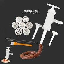 9 пресс-форм ручной колбасный шприц наполнитель салями производитель макаронных изделий лапши Воронка ручной работы Инструменты для приготовления пищи