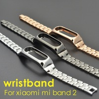 UEBN Luxury Classic Stainless Steel Band For Mi Band 2 Smart Bracelet High Quality Strap For