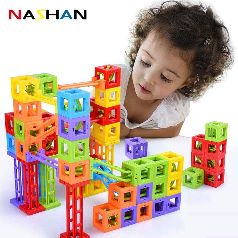 Nashan Mini Magnetic Blocks Magnetic Designer Construction Set Model & Building Toy Magnets Educational Toys For Children Gifts