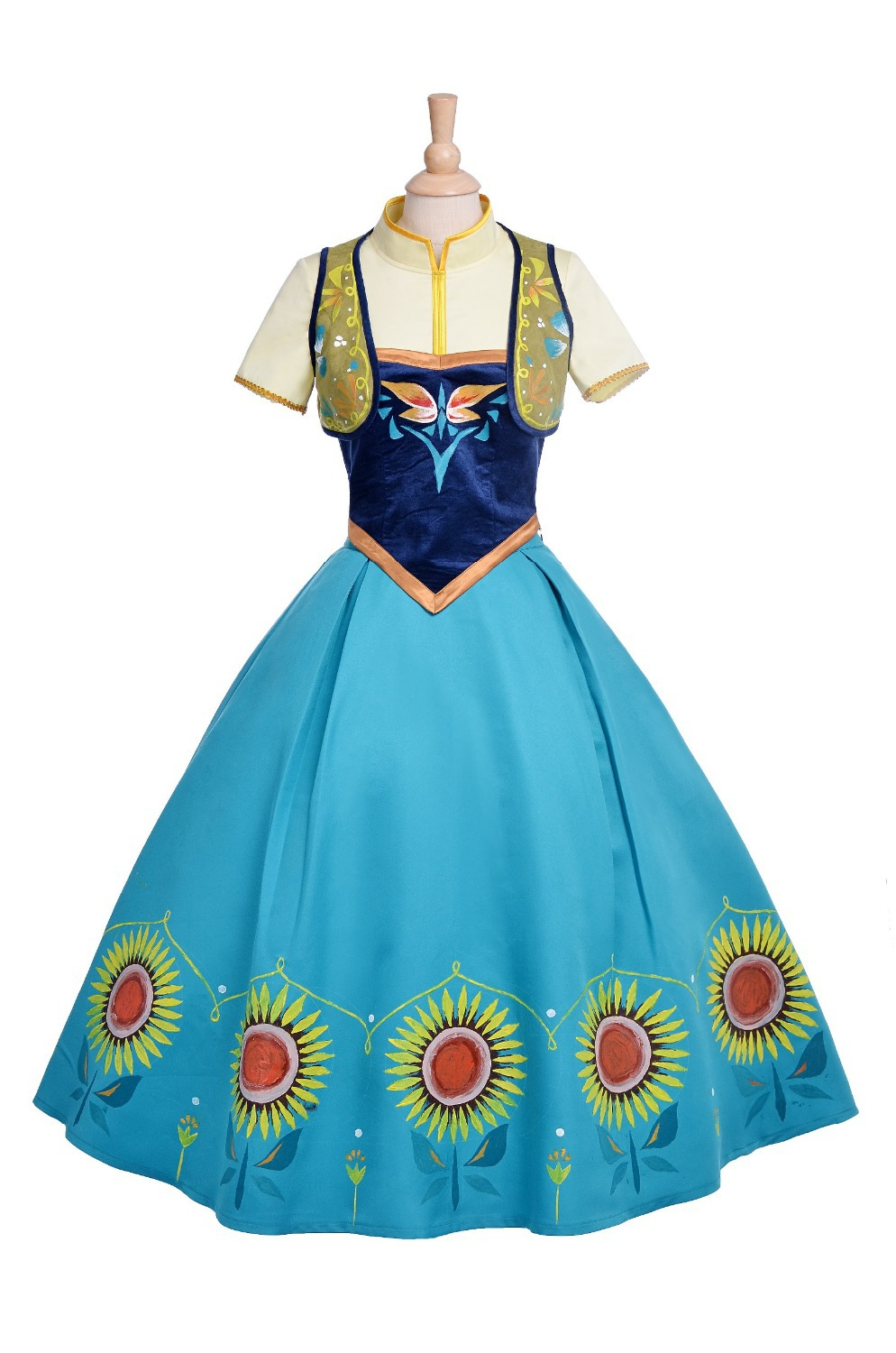 new hot annimation fever birthday party anna dress cosplay