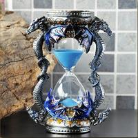 creative metal visual timer clock sand hourglass 15 minute sand glass clock showertimer for home decoration gifts A33
