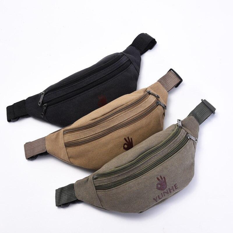 LXFZQ NEW Fanny Pack Canvas Pochetes Cintura Mulheres Women's Purse Sac Banane Waist Bag Belt Bags A Case For Phone Leg Bag
