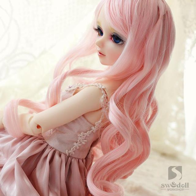 BJD wigs RW022 high temperature wire hair curly hair color 1/3SD doll wig
