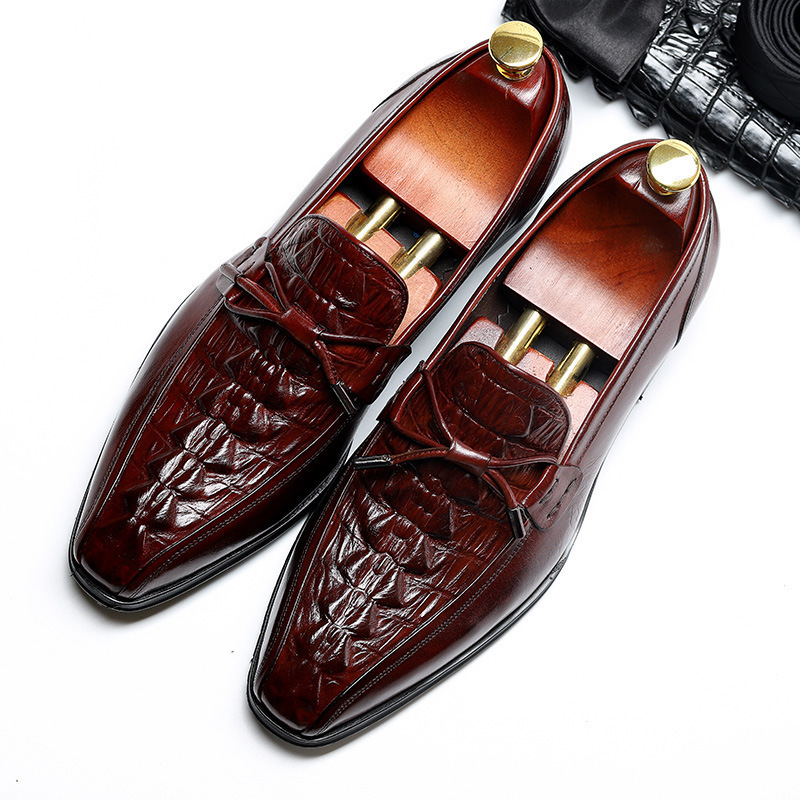 cowhide classic mens formal brown shoes men business dress leather large size single shoes pointed wedding shoes wholesale salecowhide classic mens formal brown shoes men business dress leather large size single shoes pointed wedding shoes wholesale sale