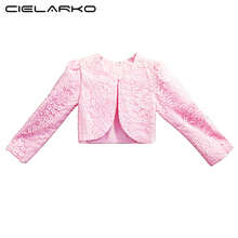 Cielarko Lace Girls Bolero Kids Party Coat Pink Wraps Shrug