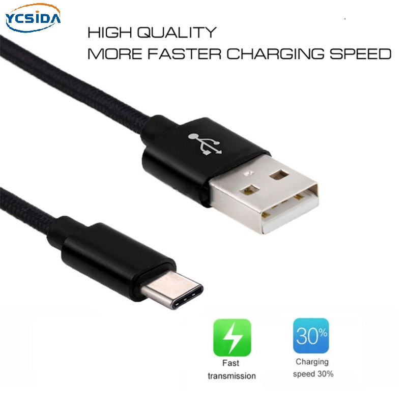 5V 2.4A USB2.0 Type-C nylon Charging cable,For Samsung S8/LG G6/Huawei mate 20Pro/Xiaomi Mi8/OPPO R17/Oneplus 6T Charging cable