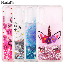 Dandelion Flower Shockproof Quicksand Fitted Back Case for Huawei P20 P30 Pro P8