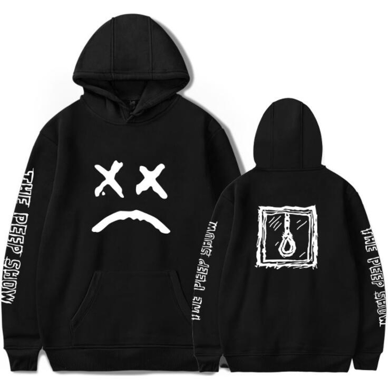 R.I.P Lil Peep Men Hoodie Sweatshirt men's Tracksuit Black White Pink Gray Sudaderas Hombre Hip Hop Rapper Hooded Jacket Male