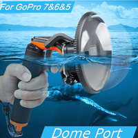 Diving Dome Port Waterproof Housing Case Cover For GoPro Hero 5/6/7 Camera Trigger