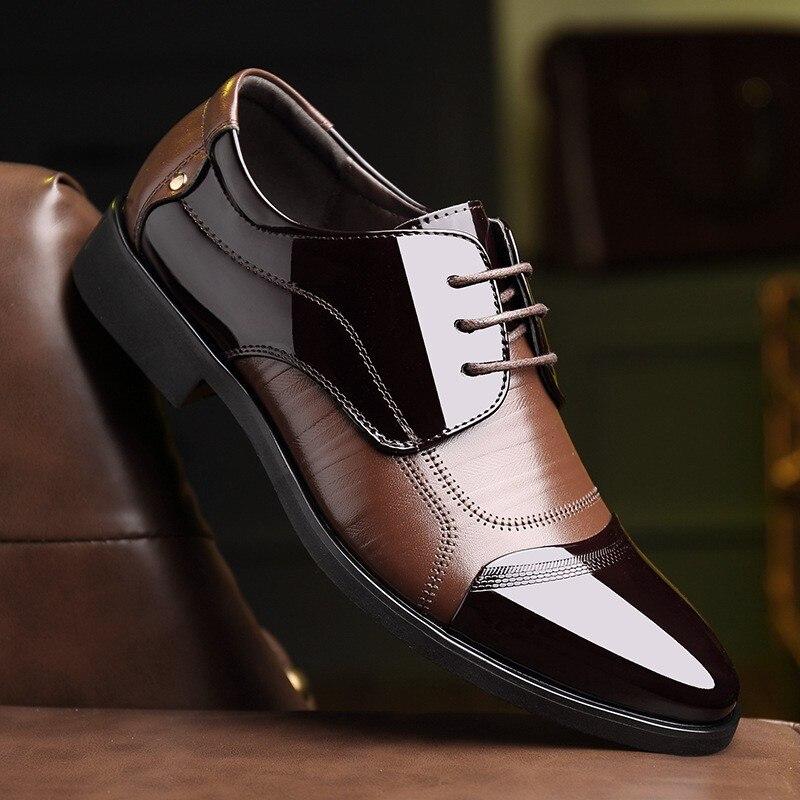 48 Croix 38 Augmenté Semelles Loisirs Pour Taille Noir D'affaires Frontière Pointu Robe Noir Intérieur marron Doux Babebcbd Chaussures Hommes Grande qST1tR