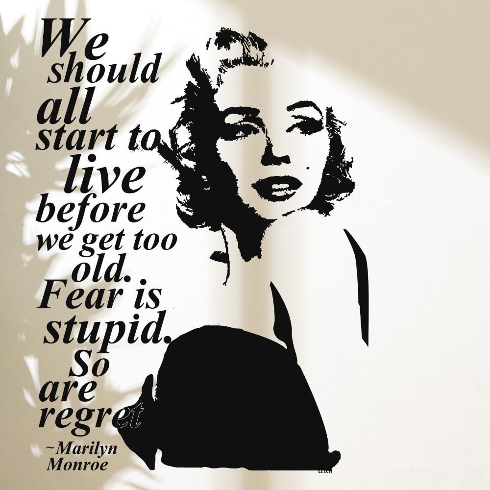 3d Poster Wall Stickers Marilyn Monroe Wall Decal Vinyl Stickers home Decor Bedroom Adesivo De Parede Mural Vinilos Parede D188
