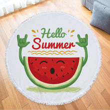 991b30864e Hello Summer Microfiber Round Beach Towel Watermelon Pineapple Circle Thick  Shower Bath Towels Bikini Cover Up