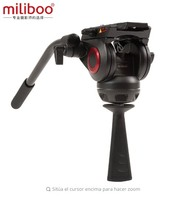Miliboo MYT802 Flat base fluid head with 75mm size Bowl for tripod / Monopod ball adapter load stand 8kg