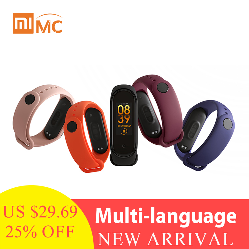 2019 Xiaomi Mi Band 4 Smart Color Screen Bracelet Heart Rate Fitness 135mAh