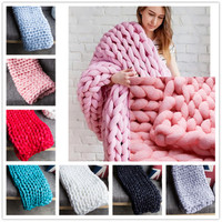 500g/lot Thick Yarn for Knitting DIY Handmade Knitted Crochet Hat Scarf Blanket Yarn Free Needles
