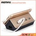 REMAX Regleta Socket con 4 USB Cargador de Teléfonos Móviles Inteligentes Electrónica del Hogar del Enchufe de Zócalo de la Extensión Estándar y Sostenedor Del Soporte