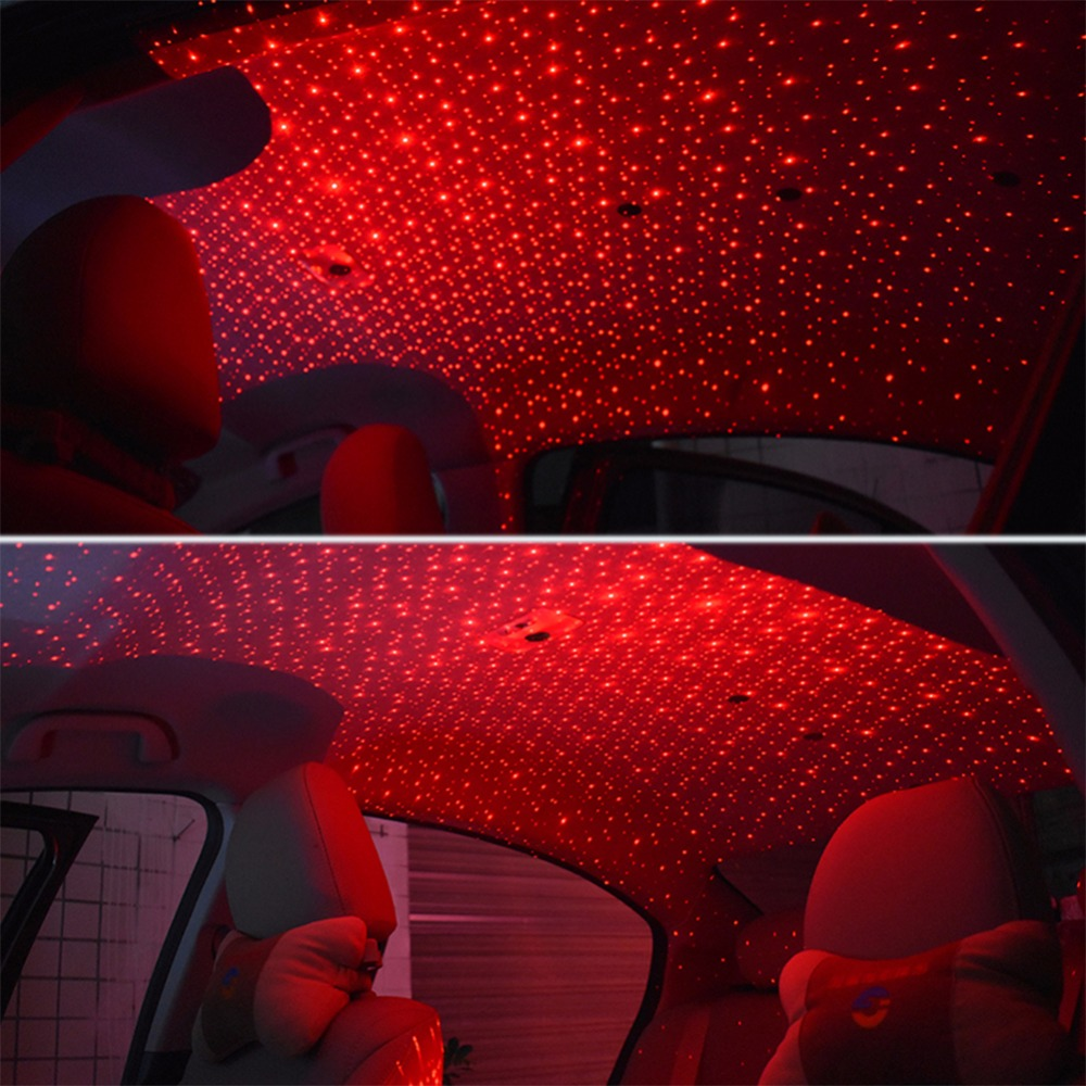 Interior Led Lights For Home: USB Red LED Projector Light Remote Control Car Interior