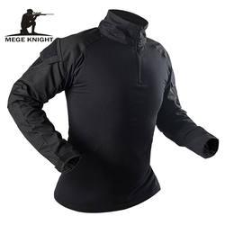 Mege Военная Рубашка камуфляжная армейская тактическая боевая рубашка для мужчин и женщин USMC Softair Camisa Militar костюм спецназа