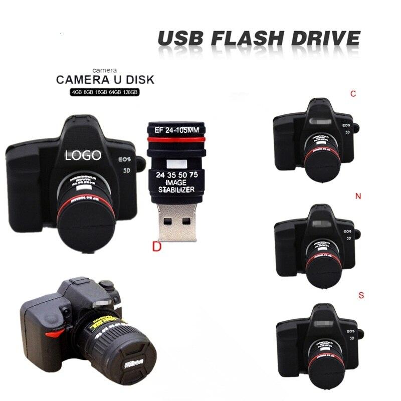 Usb Flash Drive 32gb Flash Memory Stick 128gb Cartoon SLR Camera  Pen Drive 64gb 8gb 4gb U Disk High Speed USB 2.0 Pendrive Gift