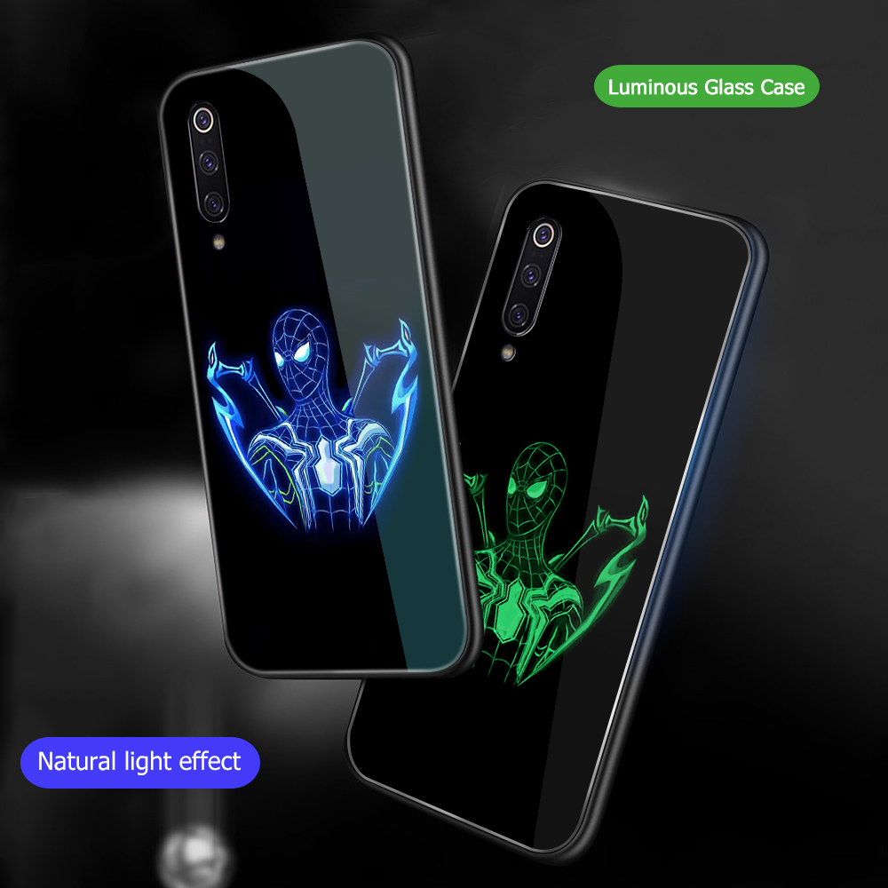 Image 3 - ciciber For Xiaomi MI 9 8 A2 6X T MIX 2 2S PocoPhone F1 Glass Phone Cases for Redmi Note 7 8 6 Pro Plus Cover Marvel Deadpool-in Fitted Cases from Cellphones & Telecommunications