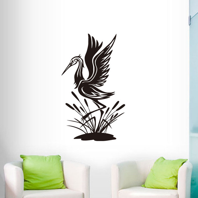 Flying Heron Wall Sticker Funny Bird Vinyl Wall Decal For Living Room Decor Fashion Home Decor  sc 1 st  AliExpress.com & Flying Heron Wall Sticker Funny Bird Vinyl Wall Decal For Living ...
