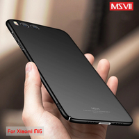 MSVII Case For Xiaomi Mi6 Case Xiaomi Mi 6  M6 Pro Case Luxury 360 Full Protection PC Hard Frosted Protective Back Cover