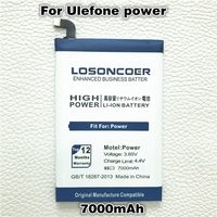 LOSONCOER 7000mAh High Capacity Batteries For UleFone Power Smart Mobile Phone Battery