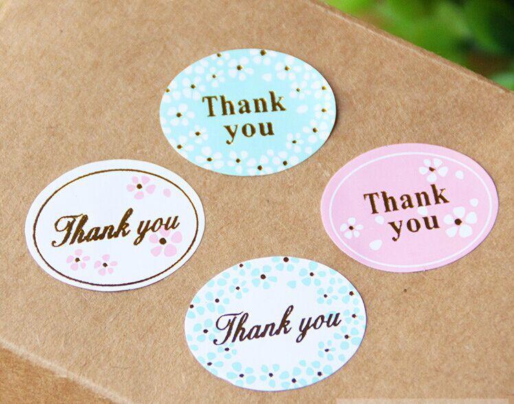 "Thank You For Baking: Aliexpress.com : Buy 240pcs/lot 4colors ""thank You"