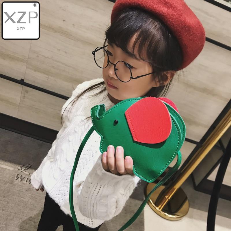 XZP 2019 New Cute Cartoon Handbag 3D Elephant Bag Kids Girl Crossbody Messenger Bags Children Purse for Women Shoulder Handbag