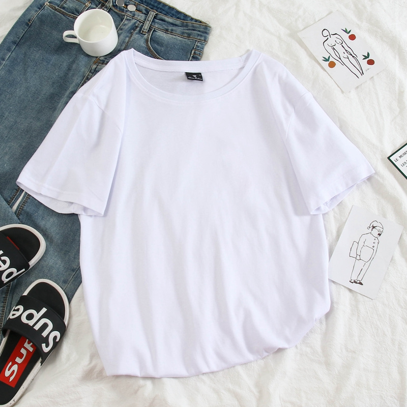 Image 5 - 여름 신작 하라주쿠 캐릭터 아바타 프린트 반소매 T 셔츠 여성용 감미로운 둥근 목 풀 대형 셔츠-in T-Shirts from Womens Clothing