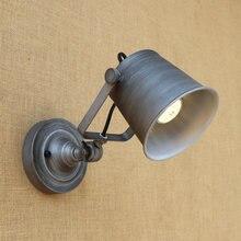Luces Led de pared de 11 colores para interiores, lámpara de pared Retro Para Loft E27, aplique de pared para dormitorio, lámparas industriales ZBD0012