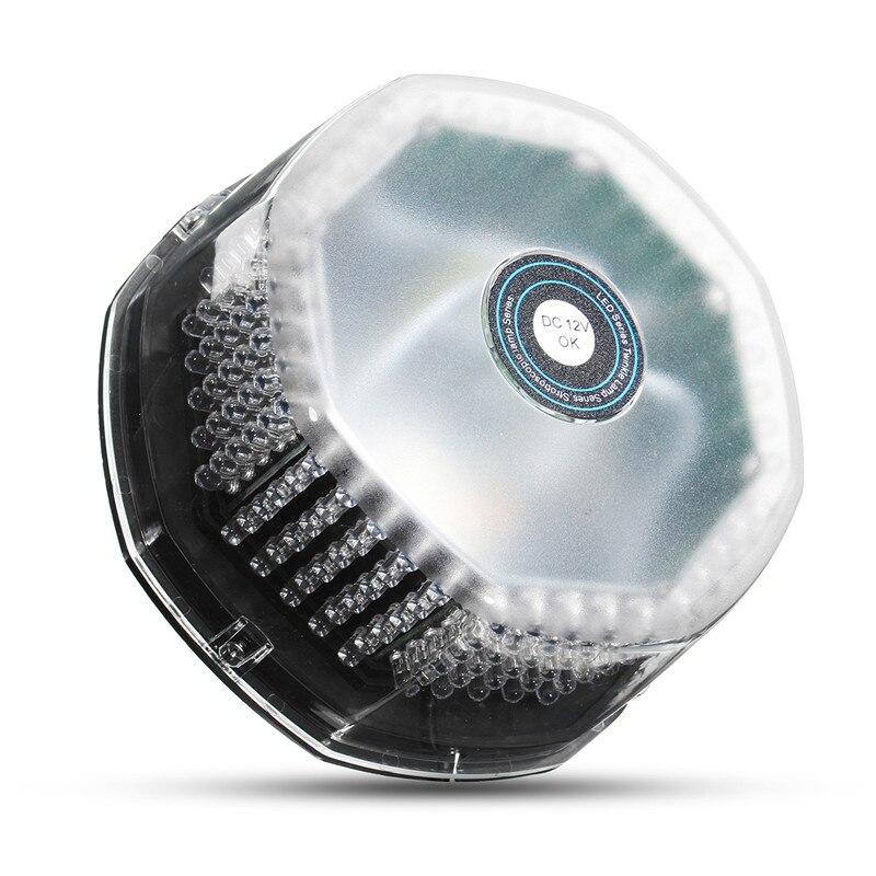 12V 36W Flashing Strobe Beacon Emergency 240 LED Warning Light Car Auto Amber Lamp Round Ceiling Lamp Octagonal Warning Light