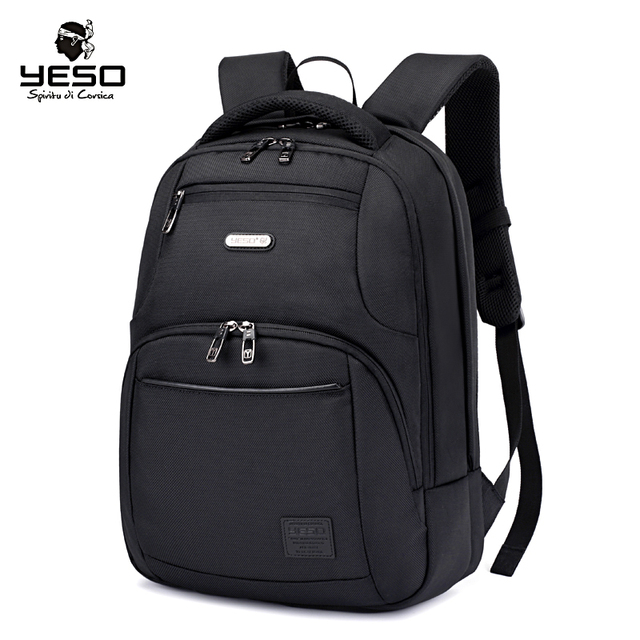 4a8141e488a YESO New Black Laptop Backpack Large Capacity Men s Backpacks Multifunction  Oxford Casual Backpack Bag Air Cushion Belt Rucksack