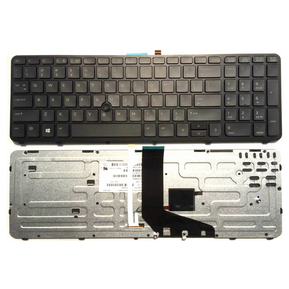 US laptop keyboard FOR HP ZBOOK 15 17 PK130TK1A00 SK7123BL With pointing stick Black border New English without backlight gzeele hot selling english keyboard for hp elitebook 8440p 8440w 8440 us laptop keyboard black without point stick