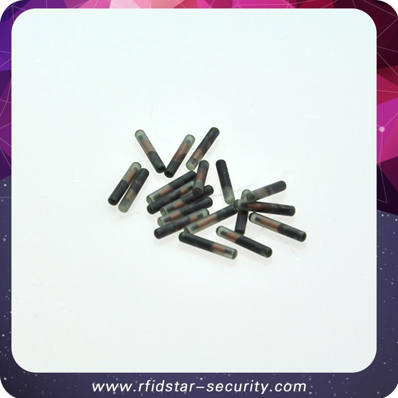 50PCS/Lot 1.25*7mm 134.2KHz FDX-B RFID microchip for Animal Identification 50pcs lot [50pieces lot] hd7406p dip14