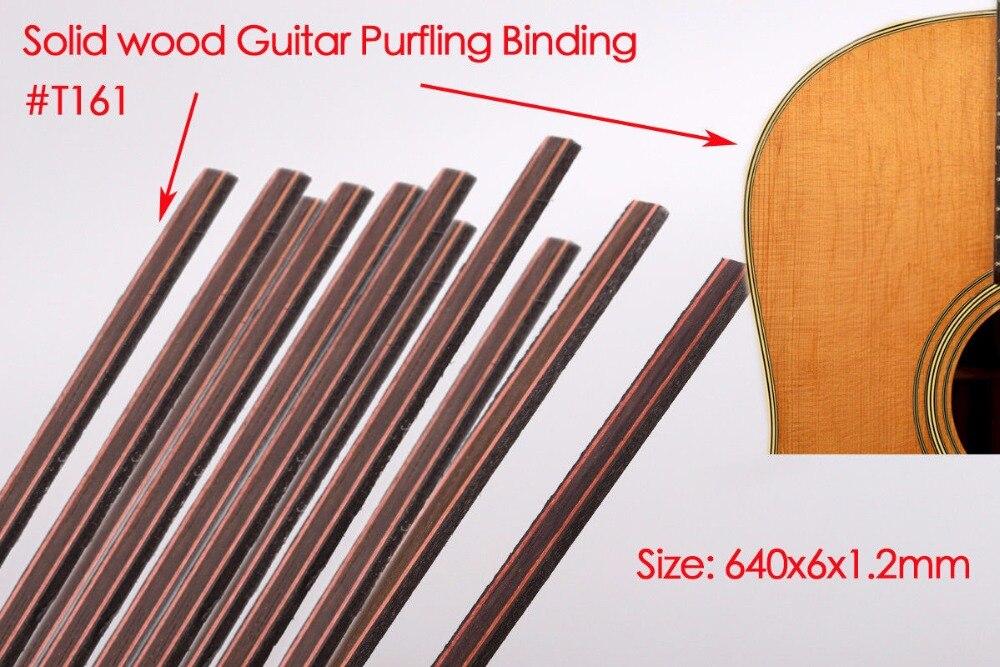 Guitar Strip Wood Purfling Binding Guitar Body Parts Inlay 640x6x1.2mm 161#  20 pcs original roland fh 740 ra 640 vs 640 re 640 capping unit 6701409200 printer parts