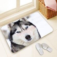 Freies Verschiffen Nach Eingang Fußmatten Schlafzimmer Fußmatten Tier Husky Druck Teppiche Bad Teppiche 40×60 cm
