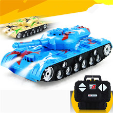 1 Piece 1:22 Mini Electric RC Toy Tank Radio Remote Control Toy Tanks And Free Shipping
