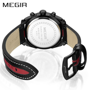 Image 3 - MEGIR Chronograph Sport Watch Men Quartz Wristwatches Clock Fashion Leather Army Military Watches Hour Time Relogio Masculino