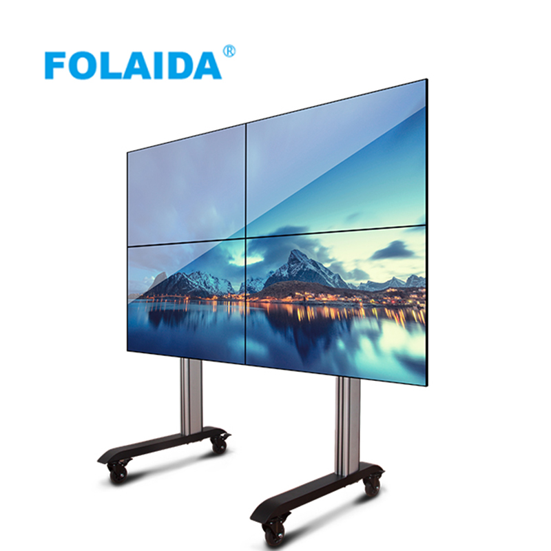 US $88 0 |Folaida 3x3 46 '' 49'' 55'' lcd video wall mount Floor standing  bracket-in CCTV Monitor & Display from Security & Protection on