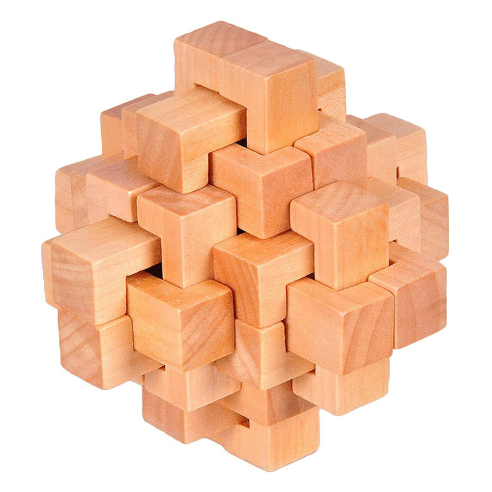 HOT SALE Wood Cube Puzzle Brain Teaser Toy Games for Adults / Kids