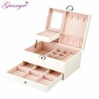 Casegrace black white exquisite jewelry wooden organizer boxes necklace rings storage box organizador lattice jewelry bin 01153