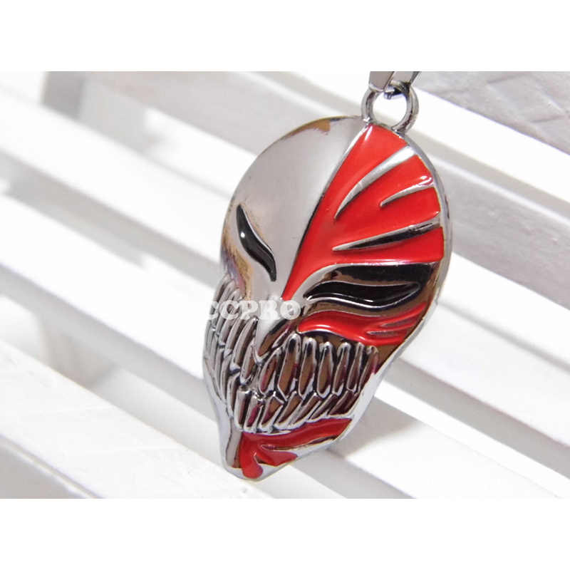 Lejía Anime colgante Kurosaki ichigo Arrancar máscara Logo Metal Collar para hombres mujeres joyería accesorios regalo